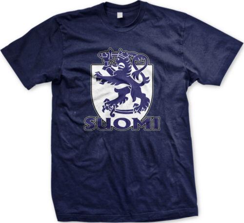 Suomi Coat of Arms Finland Finnish Pride Suomen Tasavalta Lippu Mens T-shirt
