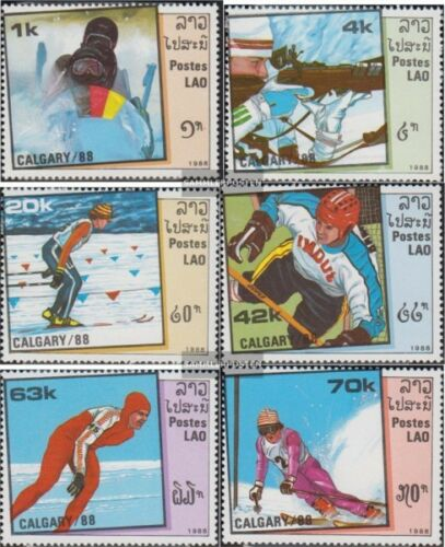 Laos 10601065 complete issue unmounted mint never hinged 1988 olympic. Wint