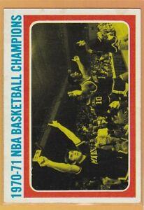 1971-72 TOPPS BASKETBALL NBA CHAMPIONSHIP #137 BUCKS OSCAR ...