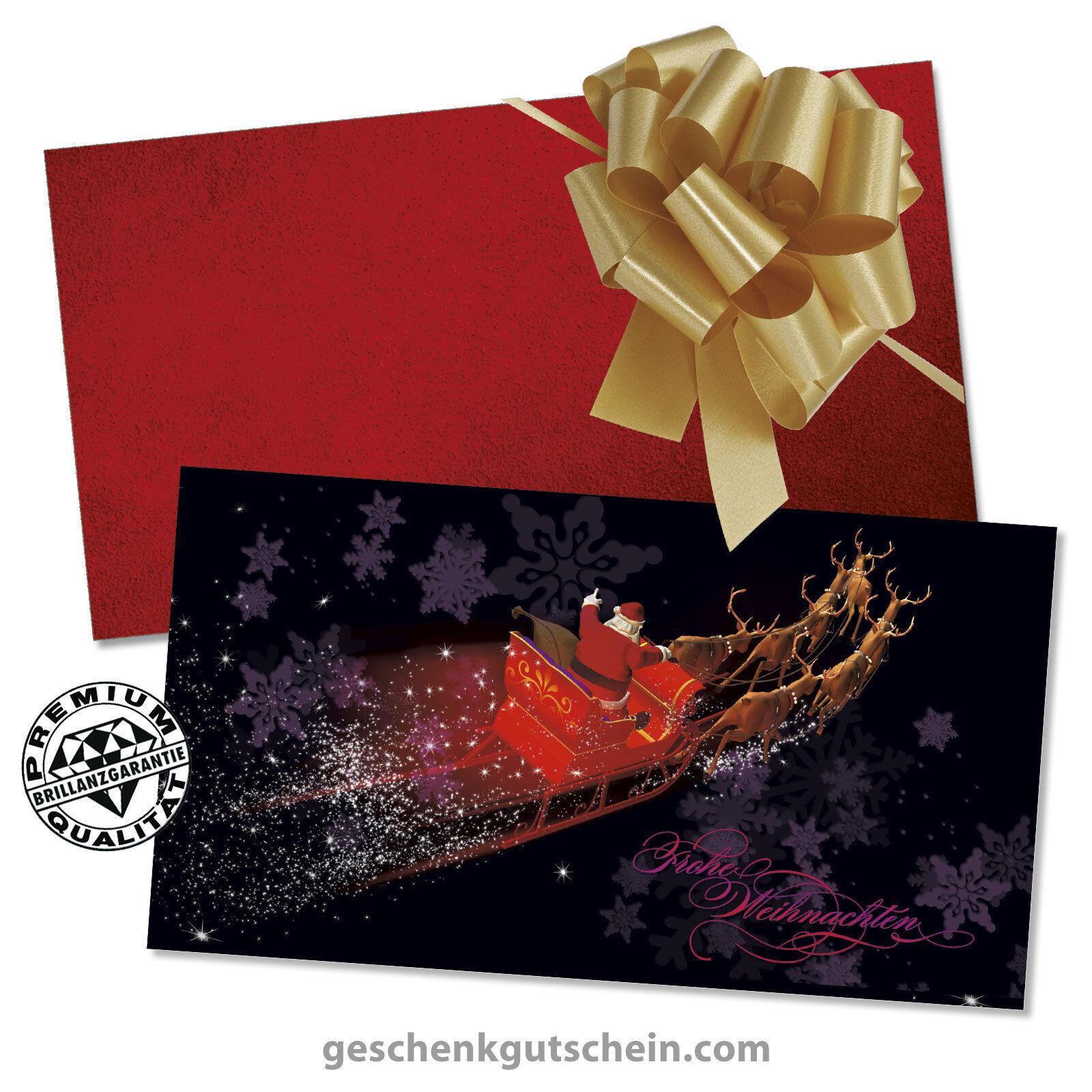 Weihnachts-Geschenkgutscheine mit KuGrüns und Schleifen für alle Branchen X1311   Zarte    Haltbar