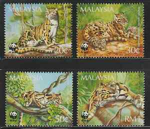 191-MALAYSIA-1995-CLOUDED-LEOPARD-SET-FRESH-MNH