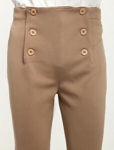 Men S Khaki Vintage Costume Pants Victorian High Waist Retro