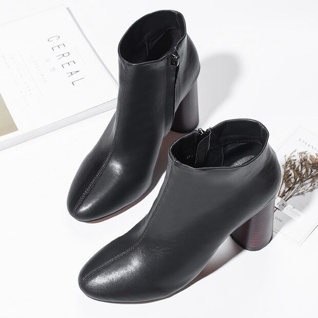 Stiefel niedrig schuhe militärschuhe 8.5 cm schwarz elegant simil leder 9599   | Hohe Qualität Und Geringen Overhead