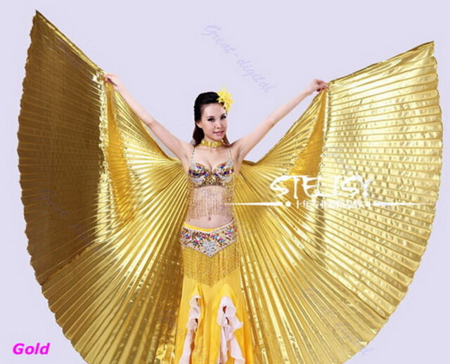 Egyptian Egypt Belly Dance Dancing Costume Isis Wings Dance Wear Wing  MN
