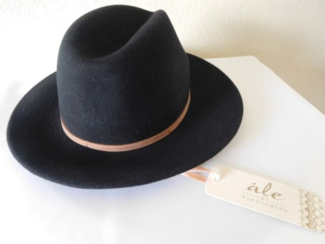 46a2154b907 New Ale by Alessandra Aurora Classic Adjustable Wool Felt Fedora Hat +UPF  50+