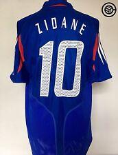 ZIDANE #10 France Euro 2004 Adidas Home Football Shirt Jersey 2004/06 (L)