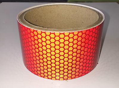 Red Vehicle Car Van S-Lite Hi-Intensity Prismatic Reflective Self Adhesive Vinyl