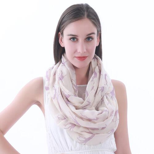 Girafe Imprimé Animal pour femme Infinity Loop foulard idée cadeau