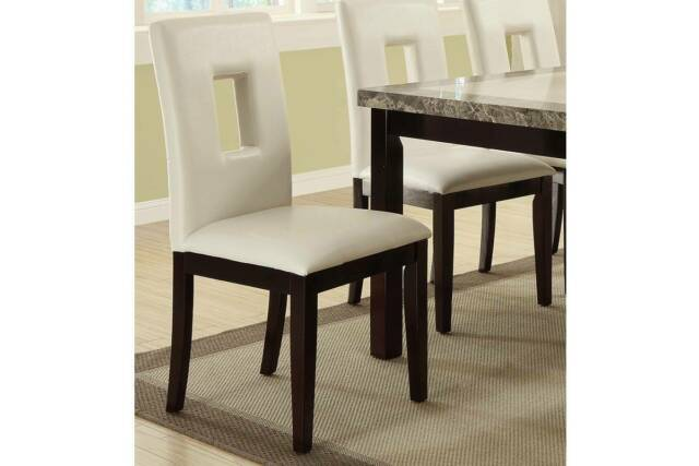 Strange Set Of 2 Contemporary Pine Wood White Faux Leather High Back Dining Chair Andrewgaddart Wooden Chair Designs For Living Room Andrewgaddartcom