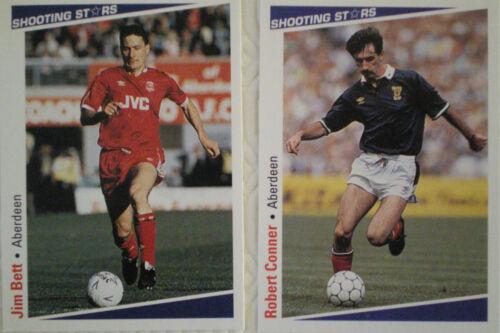 Tarjetas de fútbol Aberdeen estrellas de disparo por Merlin Publishing Ltd 1991//2 X 13