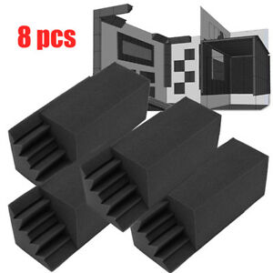 NEW-8pcs-Corner-Bass-Trap-Acoustic-Panel-Studio-Sound-Absorption-Foam-12-11-24cm