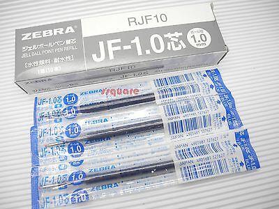 10 X Zebra Sarasa JF-1.0 RJF10 1.0mm Gel Rollerball Recarga de tinta Medio Azul