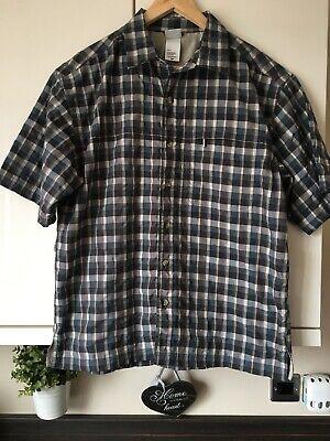 * Men's The North Face Marrone Blu Misto Controllato Camicia Taglia S-mostra Il Titolo Originale Pacchetti Alla Moda E Attraenti