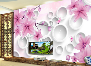 3D Round Flowers Pattern 2 Paper Wall Print Wall Decal Wall Deco Indoor Murals