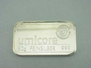 Silberbarren-50-Gramm-999-Silber-Umicore-M570