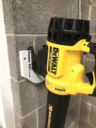 Dewalt XR Blower DCM562 Storage Rack mount for battery leaf blower.