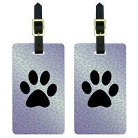 Paw Print Of Awesomeness Purple Luggage Suitcase Carry-on Id Tags Set Of 2