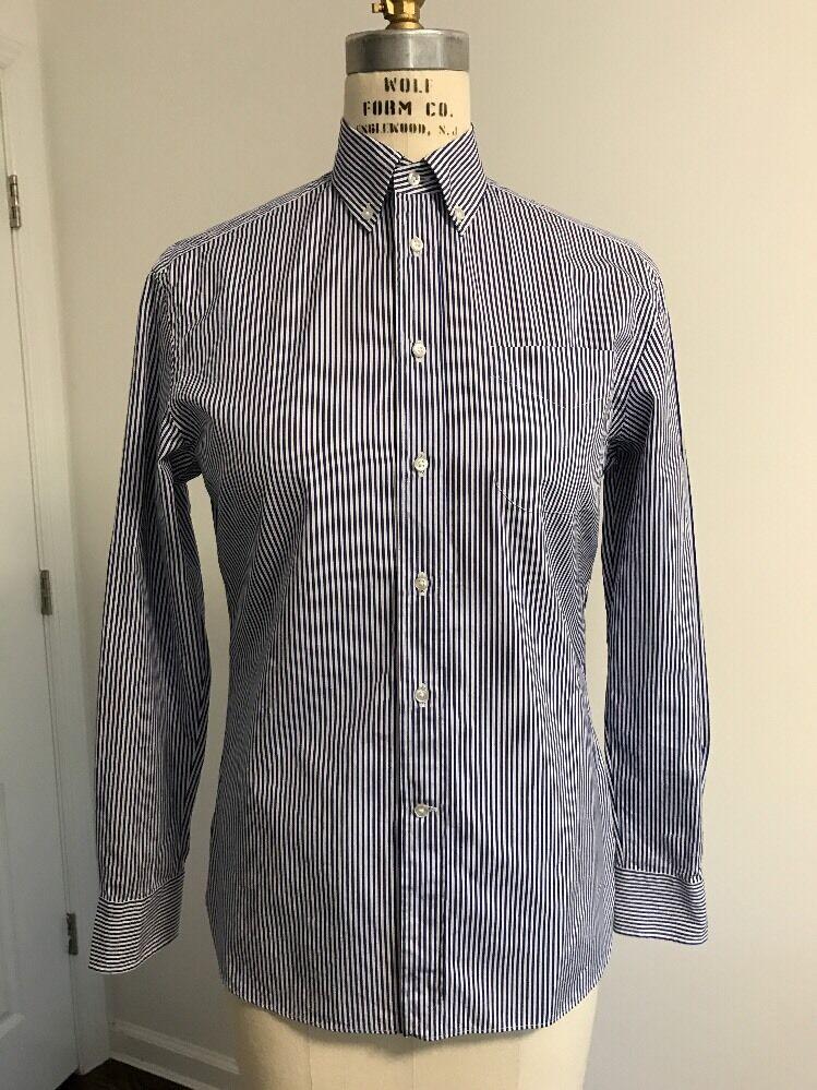 Ralph Lauren Collection Woherren Spring 2016 Striped Cotton Button Down Shirt
