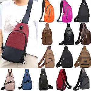 deb261b66ac1 Details about Men Women Chest Sling Shoulder Bags Travel Crossbody Gym  Outdoor Messenger Sport