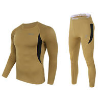 Esdy Thermal Underwear Tight Suit Fleece Men Fast-drying Thermo Pullover Wst43