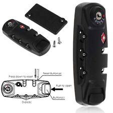 TSA Secure 3 Digit Combination Padlock Lock Luggage Suitcase Travel Code Lock
