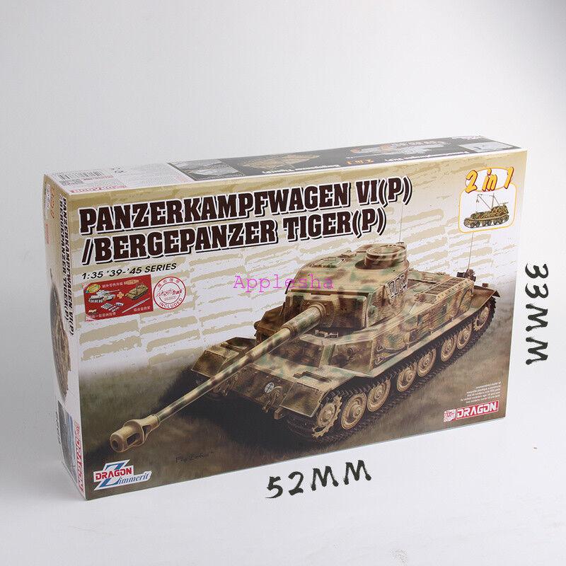 DRAGON Model 6869 1 35 Panzerkampfwagen VI(P) & Bergepanzer Tiger (P) 2019 New