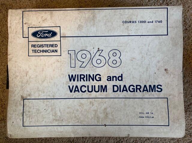 1968 Ford Mercury Lincoln Wiring Vacuum Diagrams Mustang