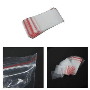 Small Clear Plastic Poly Grip Self Seal Resealable Zip Lock Mini Bags Jewellery