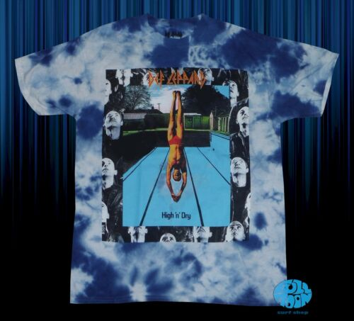 Nouveau DEF LEPPARD High n Dry Délavé Rétro Homme Vintage T-shirt classique