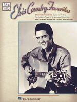 Elvis Country Favorites Sheet Music Easy Guitar 000702139