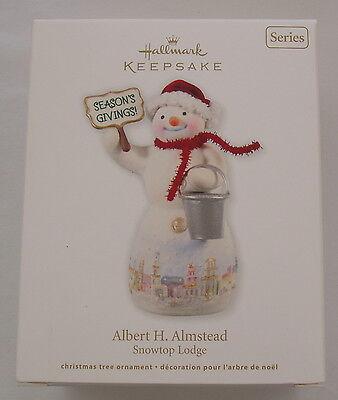 Hallmark 2012 Snowtop Lodge #8 in Series Albert H Almstead Christmas Ornament