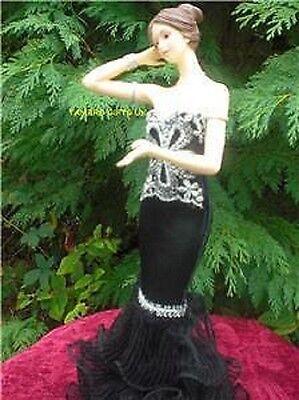Black & Silver Lady Figurines by Leonardo Xmas Gift