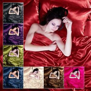 Satin-4-6-pc-Single-Double-King-Bed-Duvet-Quilt-Pillow-Cover-Fitted-Sheet-Set