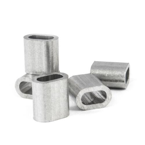 Seil 8mm Presshülsen ALU Presshülse Pressklemme 30 Aluminium Pressklemmen f