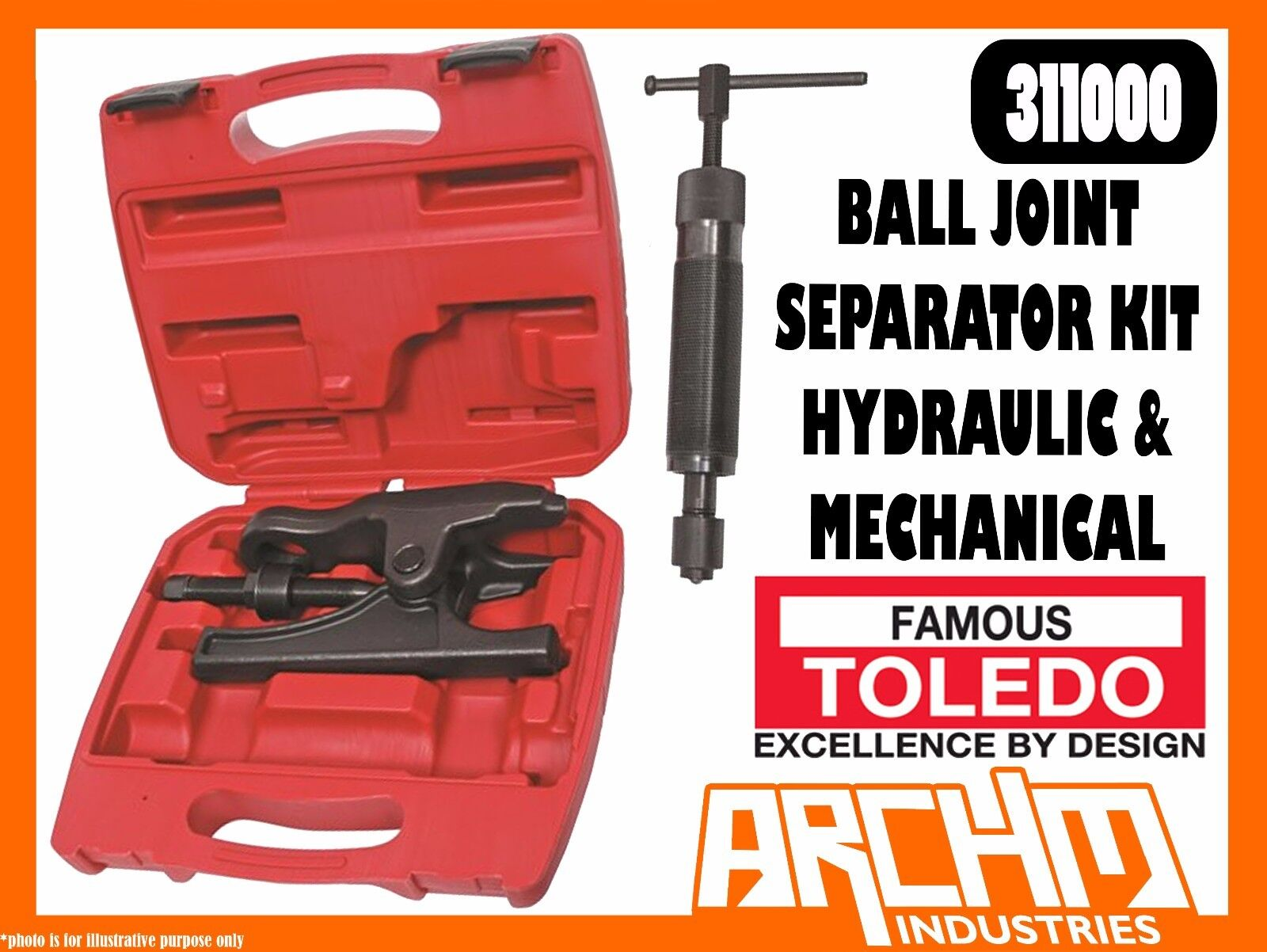 TOLEDO 311000 - BALL JOINT SEPARATOR KIT - HYDRAULIC & MECHANICAL - REMOVAL