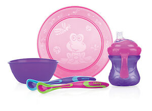 """Feeding Sets Rose Pourpre Products Are Sold Without Limitations Generous Nuby Id92316 Salle à Manger & Trinklerset """" Fille """" 5tlg"""
