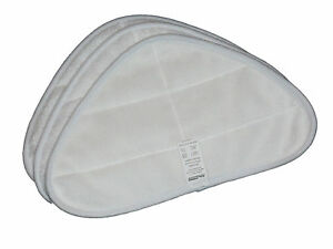 Filtamagic 3 X Microfibre Triangler Cloths To Fit H2o Hd Steam Mop