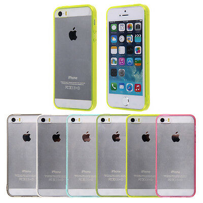 Thin Crystal Clear Transparent Soft Silicone Case Cover Skin For iPhone 6 SE 5S