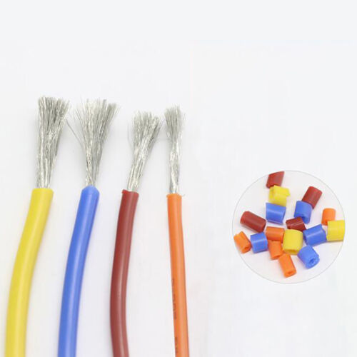 8~30AWG Gelb Silikon Gummi Draht Kabel HOHE TEMP Ultra Flexibel US 0.08mm Serie