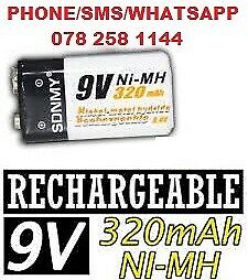 New Nicke-Metal hydride Rechargeable 9v Ni-MH battery at R100 each