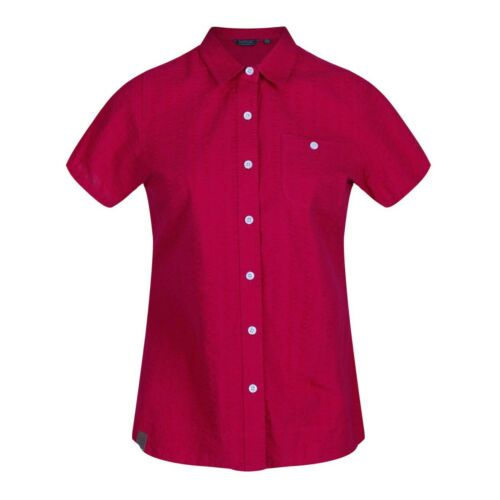 Womens Short Sleeve Shirt Light Cotton Hiking Camping Outdoor Work Top Jerbra
