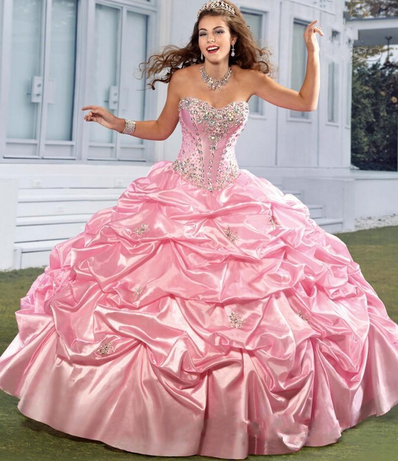 2018 Pink Quinceanera Dresses Dresses Dresses for 15 Years Formal Sweet 16 Prom Party Ball Gown 9e3bd8