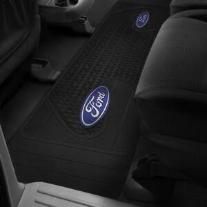 rear floor mat runner ford logo f 150 f 250 f 350 rubber. Black Bedroom Furniture Sets. Home Design Ideas