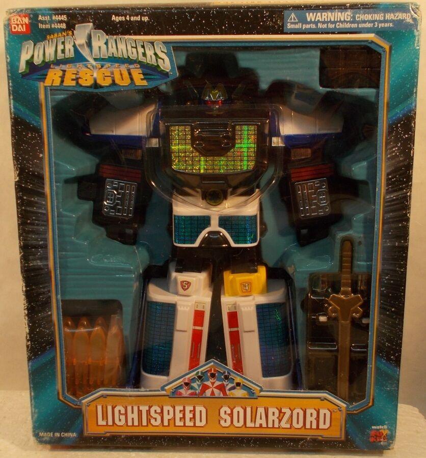 Power Rangers Lightspeed Rescue 9  medio solarzord misil lanzamiento Megazord