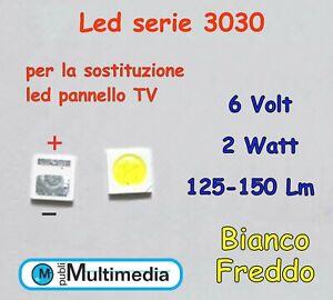 10-Led-3030-per-retroilluminazione-TV-6V-2W-125-150Lm
