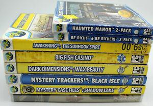 Lot of 8 PC Games Haunted Manor,Slots,Soduku,Hidden Object Games,Big Fish