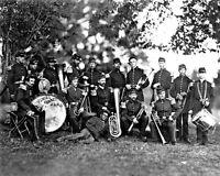 8x10 Civil War Photo: Elmira Cornet Band, 33rd Regiment York Volunteers