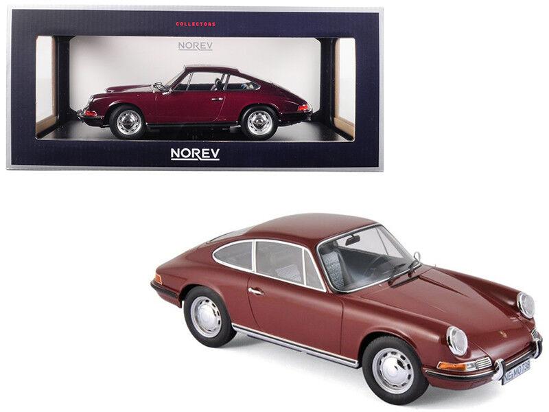 1   18 norev porsche 911 t ein diecast modell wagen dunkles rot 187630