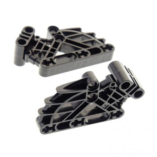 2 x Lego Bionicle personnage poitrine noir 2 x 4 x 7 Liftarm connecteur Ribcage te