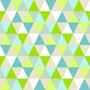 Rasch-Papel-pintado-138713-todo-el-mundo-BONJOUR-Triangulo-Blanco-Verde